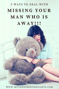 Pinterest Pin for 5 things to remember when you miss him